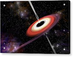 Black Hole 2d Acrylic Print by Marc Ward