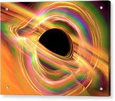 Black Hole Acrylic Print by Alfred Pasieka