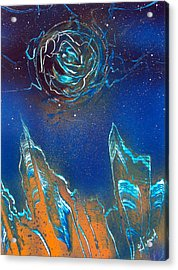 Acrylic Print featuring the painting Black Hole by Jason Girard
