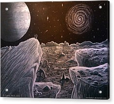 Black Hole Suicide Acrylic Print by Travis Hunt