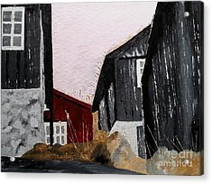 Black Houses Acrylic Print