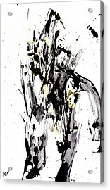 Acrylic Print featuring the painting Black Is Not White White Is Not Black by Kris Haas