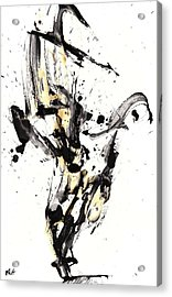 Acrylic Print featuring the painting Black Is White White Is Black by Kris Haas