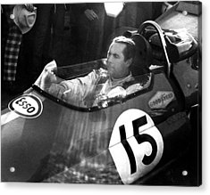 Black Jack Brabham Acrylic Print by Mike Flynn