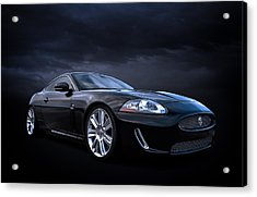 Black Jaguar Acrylic Print by Douglas Pittman