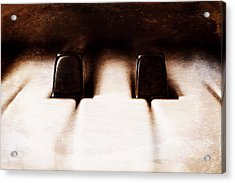 Black Keys D Flat And E Flat  Acrylic Print by Scott Norris