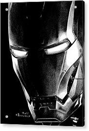 Black Led Avenger Acrylic Print by Kayleigh Semeniuk