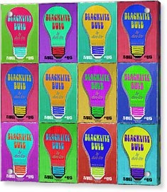 Black Light Bulbs Poster Acrylic Print by Tony Rubino