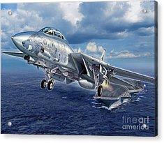 Black Lion Launch - F-14d Acrylic Print by Stu Shepherd