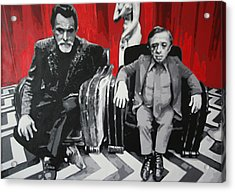 Black Lodge Acrylic Print by Ludzska