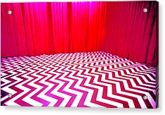 Black Lodge Magenta Acrylic Print