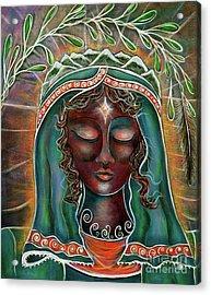 Peace - Black Madonna Acrylic Print