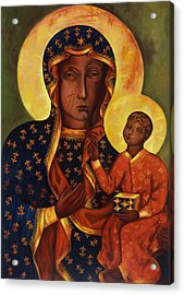 The Black Madonna Of Czestochowa Acrylic Print