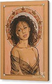 Black Madonna Acrylic Print by Ottilia Zakany
