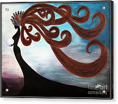 Black Magic Woman Acrylic Print by Jolanta Anna Karolska