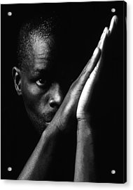 Black Man With Praying Hands Acrylic Print