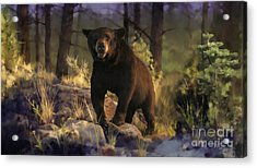 Acrylic Print featuring the painting Black Max by Rob Corsetti