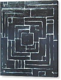 Black Maze Acrylic Print by Kazuya Akimoto