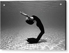 Black Mermaid Acrylic Print