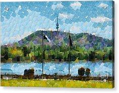 Black Mountain View Acrylic Print