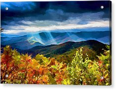 Black Mountains Overlook On The Blue Ridge Parkway Acrylic Print