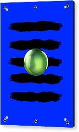 Black N' Blue Acrylic Print by Brian Lyne