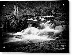 Black N White Cascades Acrylic Print