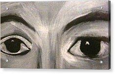 Black N White Eyes Acrylic Print by Juliann Sweet