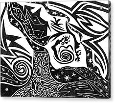Black Night Acrylic Print by Kerri White