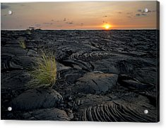 Acrylic Print featuring the photograph Big Island - Black Ocean by Francesco Emanuele Carucci