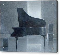 Black Piano 2004 Acrylic Print by Lincoln Seligman