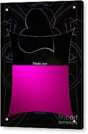 Black Pink Luv Acrylic Print