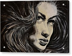 Acrylic Print featuring the painting Black Portrait 13 by Sandro Ramani
