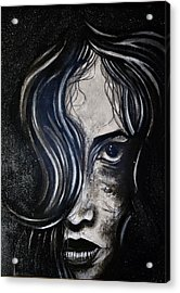 Acrylic Print featuring the painting Black Portrait 5 by Sandro Ramani