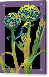 Black-purple Artichoke Acrylic Print