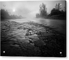 Black River Acrylic Print by Davorin Mance