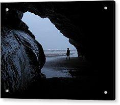 Black Rock Cave Acrylic Print