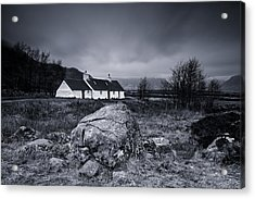 Black Rock Cottage - Glencoe Acrylic Print by Stephen Taylor