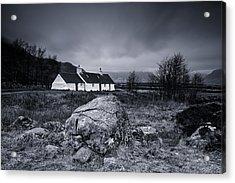 Black Rock Cottage - Glencoe Acrylic Print