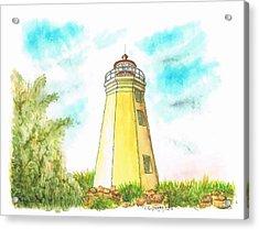 Black Rock Harbor Lighthouse - Connecticut Acrylic Print by Carlos G Groppa