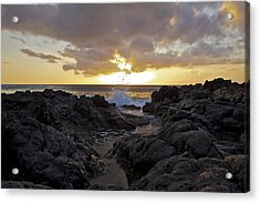 Black Rock Sunset Acrylic Print by Brian Governale