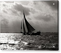 Black Sail Sunset Acrylic Print