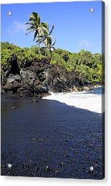 Black Sand Beach 1 Acrylic Print