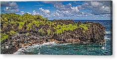 Black Sand Beach Maui Hawaii Acrylic Print