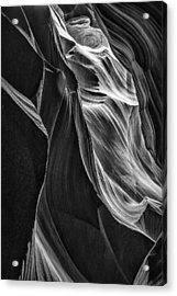 Black Sandstone Acrylic Print