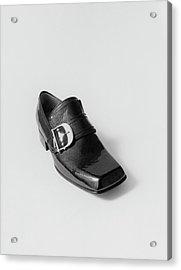 Black Shoe Acrylic Print by Leonard Nones