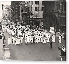Black Silent Protest March Acrylic Print by Underwood Archives