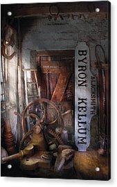Black Smith - Byron Kellum Blacksmith Acrylic Print by Mike Savad