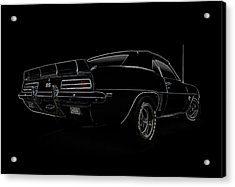 Black Ss Line Art Acrylic Print by Douglas Pittman