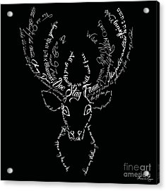 Black Stag Acrylic Print